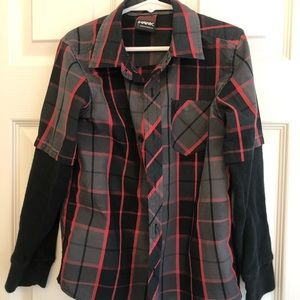 Tony Hawk plaid button down shirt